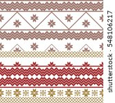 scheme for embroidery nordic... | Shutterstock . vector #548106217