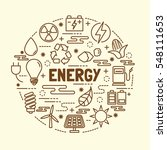 energy minimal thin line icons... | Shutterstock .eps vector #548111653