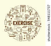 exercise minimal thin line... | Shutterstock .eps vector #548111737