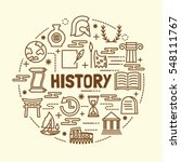 history minimal thin line icons ... | Shutterstock .eps vector #548111767