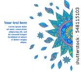 vector illustration of blue... | Shutterstock .eps vector #548115103