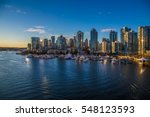 Stock photo beautiful view of vancouver british columbia canada 548123593