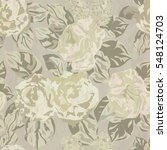 seamless floral pattern with... | Shutterstock .eps vector #548124703