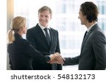 group of business people ... | Shutterstock . vector #548132173