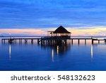 morning in ora beach resort ... | Shutterstock . vector #548132623