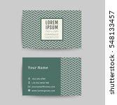 business card art deco design... | Shutterstock .eps vector #548133457