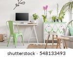 shot of a bright living room... | Shutterstock . vector #548133493
