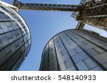feed mill for the production of ... | Shutterstock . vector #548140933