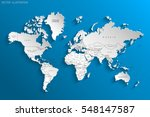 political map of the world.... | Shutterstock .eps vector #548147587