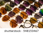 assorted sunglasses for sale at ... | Shutterstock . vector #548153467