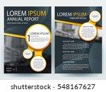abstract vector modern flyers... | Shutterstock .eps vector #548167627