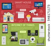smart house and internet of... | Shutterstock .eps vector #548171173