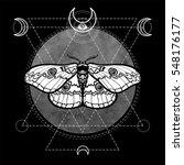 night moth. esoteric symbol ...   Shutterstock .eps vector #548176177