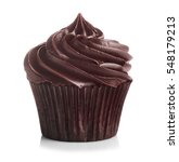 fresh tasty cupcake on white... | Shutterstock . vector #548179213