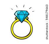 diamond ring vector patch badge ... | Shutterstock .eps vector #548179663