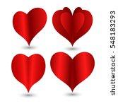 origami heart | Shutterstock .eps vector #548183293