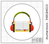 audio guide or audio book icon | Shutterstock .eps vector #548184013