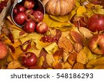 Autumn Background  Fruits And...