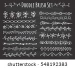 set of doodle brush on... | Shutterstock .eps vector #548192383
