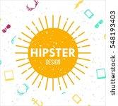 hipster poster design template | Shutterstock .eps vector #548193403
