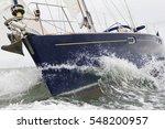 close up of sailing boat  sail... | Shutterstock . vector #548200957