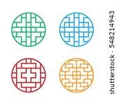 Set Of Circle Korean Pattern...