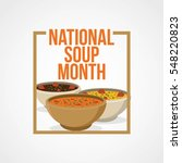 national soup month vector... | Shutterstock .eps vector #548220823