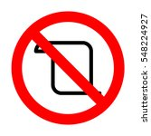 no scroll icon illustration.  | Shutterstock .eps vector #548224927