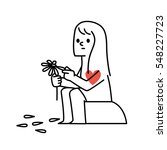 vector illustration woman... | Shutterstock .eps vector #548227723
