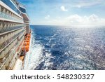 ocean view from a cruise ship... | Shutterstock . vector #548230327
