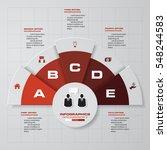 simple editable 5 steps chart... | Shutterstock .eps vector #548244583