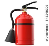 red fire extinguisher. 3d... | Shutterstock . vector #548248303