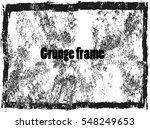 vector grunge frame.distress... | Shutterstock .eps vector #548249653