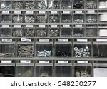 many bolts and steel washers... | Shutterstock . vector #548250277