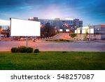 Billboard Evening Street Mock...