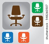 office chair icon. arm chair... | Shutterstock .eps vector #548260507