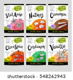 set of colorful stickers ... | Shutterstock .eps vector #548262943