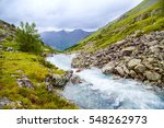 summer landscape with mountains ... | Shutterstock . vector #548262973