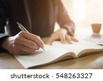 business man writing on... | Shutterstock . vector #548263327