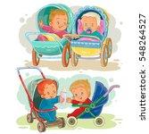 set illustrations of little... | Shutterstock .eps vector #548264527