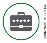 briefcase icon vector flat...