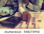 double exposure hands of... | Shutterstock . vector #548273953