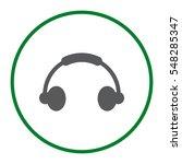 headphone icon vector flat...