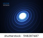 circle light effect with blue... | Shutterstock .eps vector #548287687