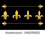 Golden Vector Fleur De Lys...