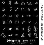 business set sketch vector ink... | Shutterstock .eps vector #548292757