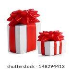 set of festive gifts on white... | Shutterstock . vector #548294413