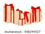 set of festive gifts on white... | Shutterstock . vector #548294527