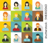 various people icons set. flat...   Shutterstock .eps vector #548302063