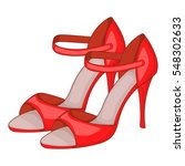 red dancing high heel shoes... | Shutterstock .eps vector #548302633